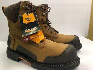 Ariat OverDrive XTR Men's 13 Steel Toe Side Zipper 10012945 Aged Bark Brown