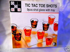 Tic Tac Toe Shot Glass Game Brand New In Box (Set of 9 Glasses)