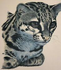 "Guy Coheleach ""MARGAY"" Signed Unframed Print Regency House Art 1974"