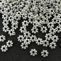 Tibetan Silver Daisy Spacer Beads Flower 5mm x 2mm - 300pcs (fnsp0585d)