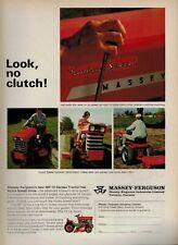 1967 MASSEY-FERGUSON : MF 12 Garden Tractor   Magazine PRINT AD