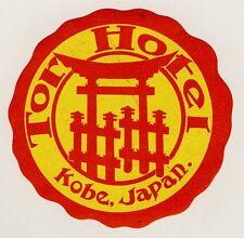 Porte hôtel Kobe nippon Japon Asia * Old Luggage label valise Autocollant