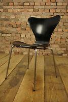 60er Vintage Arne Jacobsen 3107 Stuhl Fritz Hansen Dining Chair schwarz No 1