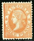 Australia States VICTORIA QV SG.143b 3d Bright Orange (1873) Mint RARE ABLUE14