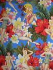 Retro ~ISLAND GIRLS ~ Alexander Henry~ Pin Up Girls - Fabric - Verticle1/2 yard