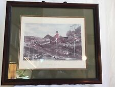 Fox Hunt Lithograph 'Full Cry' after Painting by William J. Shayer Framed