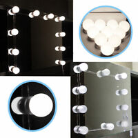 Hollywood Mirror Vanity LED Light Kit Beauty Makeup With 10 Bulbs Adjustable HK