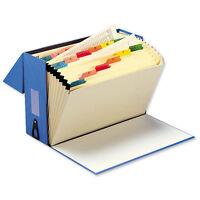 Expanding BLUE Box File 20 Pockets A - Z Myler Tabs Foolscap