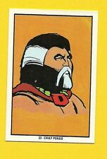 Mighty Mightor Chief Pondo Vintage 1970s Hanna Barbera Cartoon Card from Spain