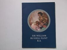 SIR WILLIAM RUSSELL FLINT ARTIST PAINTER  STUDIO PICTURES R.A. EXHIBITION 1962