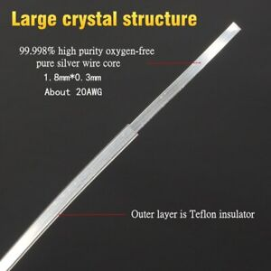 pure silver hifi Teflon machine signal audio crystal square core bulk cable