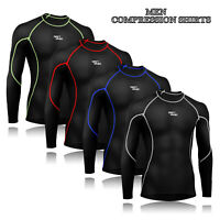 Men's Compression Base Layers Shirts Thermal Body Armour Under Top Skins Shirt