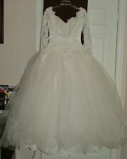 VINTAGE BRIDAL GOWN EVE OF MILADY #5068  SIZE 12 PRINCESS FAIRYTALE