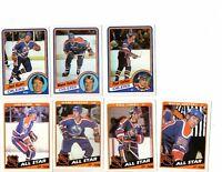 1984/85 Topps Edmonton Oiler Team set w/All Stars, Wayne Gretzky X2, Kuri X2 NM
