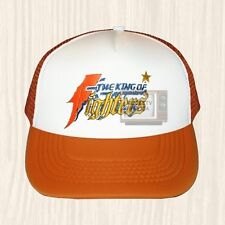 King of Fighters Logo Trucker Hat Arcade Videogame Fatal Fury Cap Embroidered