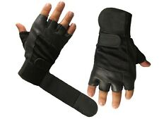 Weight Lifting Gloves With Wrist Straps Gym Training Fitness Leather Exercise XL