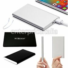 BATTERIA ESTERNA 10000 MAH POWER BANK POWERBANK Metallo SMARTPHONE TELEFONO USB