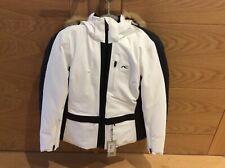 Kjus womens nuna ski jacket white fur hood size 38/8 New with tags