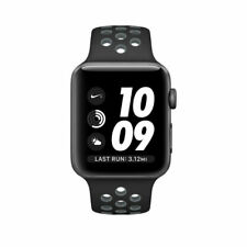Apple Watch Nike+ 42mm Ser 2 Aluminum Case Black/Navy Blue Sport Band(MNYY2LL/A)