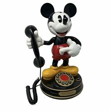 Vintage Mickey Mouse Animated Talking Telephone Disney Phone TeleMania Tested
