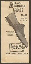 VINTAGE AD DOLLAR BROTHERS FINE SHOES  BOWLING GREEN, KY - 1967 HUSHPUPPIES
