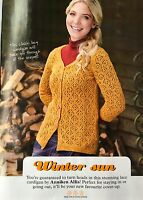 KNITTING PATTERN Ladies Lace Design Cardigan Long Sleeved Debbie Bliss PATTERN