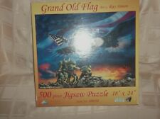 NEW Grand Old Flag Puzzle Artist Ray Simon Two Jima 500 Pieces SEALED