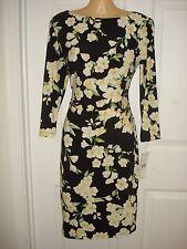 Lauren Ralph Lauren Wear to Work Floral Print Sheath Dress Sz 10