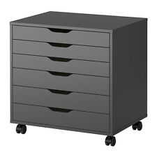Ikea Alex Drawer Unit on Casters Gray Home Office New