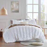 SLEEP ZONE All Season Seersucker Comforter Set Luxury Down Alternative Lightweig