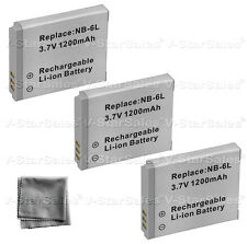3x NB-6L NB-6LH Battery + BONUS for Canon PowerShot SX280 SD980 SX250
