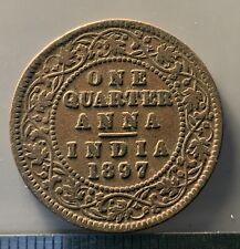 1897 British India one quarter anna