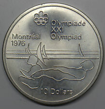 1975 CANADA $10  MONTREAL OLYMPICS 1976 COMMEMORATIVE SILVER COIN # DBW