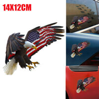 1X Bald Eagle USA American Flag Sticker Car Truck Window Decal Accessory Cooler