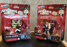 Set of 2 Power Rangers SWAPPZ collection megaforce BLACK RANGER and MEGAZORD