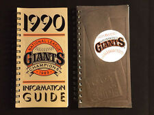 San Francisco Giants Press-Media Information Guides 1990 & 1991 Baseball Season
