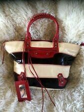 3 Colour patent Leather Large Tote shopper Bag