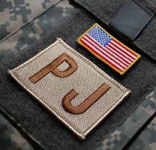 US AFSOC MEDIVAC PEDRO COMBAT PARARESCUE JUMPER velkrö 2-PATCH set: US Flag + PJ