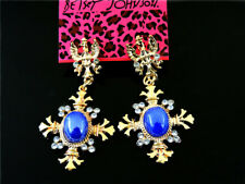 Betsey Johnson fashion Rhinestone Gem snow crystal  Women's Ear Stud Earrings