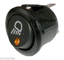 Interruptor On-off ámbar Led Dot Iluminado con el trabajo de la lámpara símbolo 12-24 voltios 053111