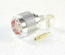 2pcs Rf Connector N Type Male Crimp Silver-plated Teflon Insulation for Lmr400