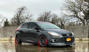 KBD Body Kits BDS Style Polyurethane Front Lip Fits Ford Focus 5dr / Sedan 12-14