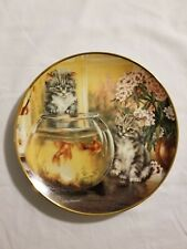 "Franklin Mint ""Cat Tales"" Kittens Collector's Plate Lesley Hammett"