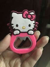 1x Hello Kitty Pink Stainless Steel Beer Bottle Opener Silicone Fridge Magnet