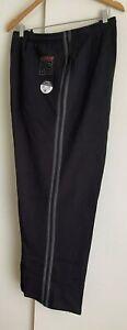 Men's Fleece Casual Sports Track Striped Sweat Pants Trousers Black size 7 XL