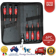 Milwaukee 6 Piece Precision Screwdriver Set Philips Slotted Chrome Plated Shanks