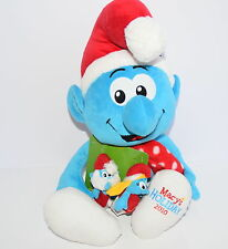 The Smurfs MACY'S 2010 Holiday Stuffed Plush With Finger Pals NWT New