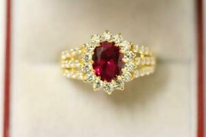 916/22ct sparkling attractive indian gold ring size O *Boxed*