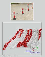 Absperrkette rot-weiß Kunststoff Meterwaren