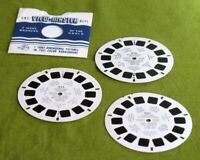 50s ViewMaster Cowboys Stars 3 Reel Set Hopalong Cassidy Autry Cisco 950 955 960
